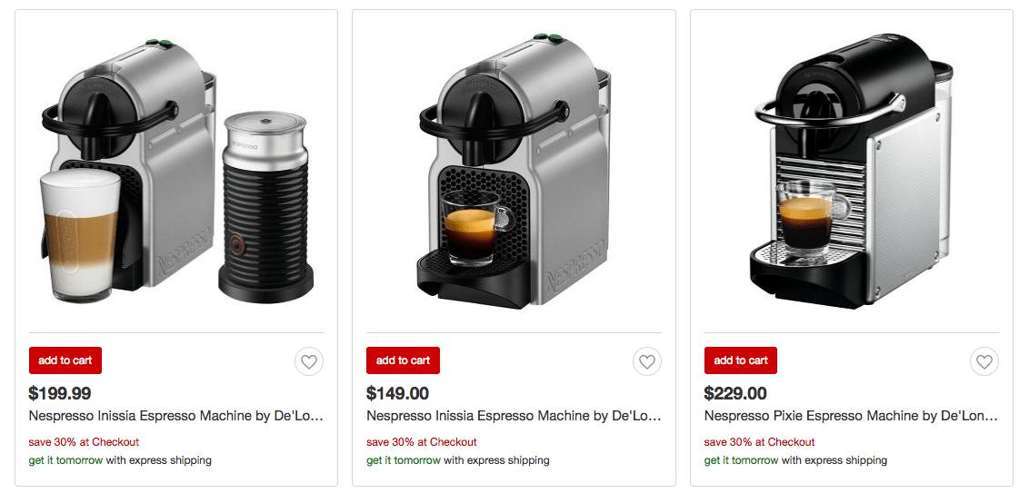 Target nespresso inissia