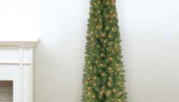 michaels pre lit 7 ft pencil artificial christmas tree only 3999 shipped - Kmart Pre Lit Christmas Trees