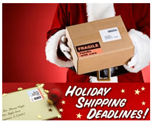 Holiday Shipping Deadlines 2017 My Dallas Mommy