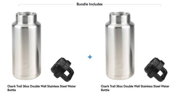 6c0df1996cf 2 Ozark Trail 36oz Stainless Steel Water Bottles Only $8.88 - My DFW ...