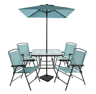 Threshold Piece Metal Folding Patio Dining Set Only Shipped - Metal folding patio table and chairs