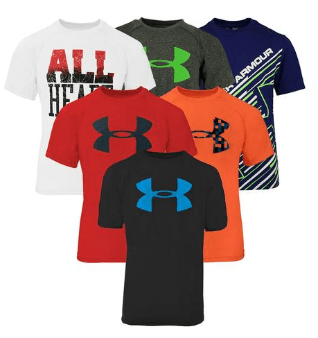 Under Armour Boy/'s Mystery T-Shirt 5-Pack
