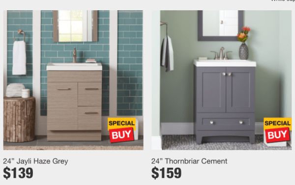 Home Depot Bath Vanities Starting At 139 My Dfw Mommy