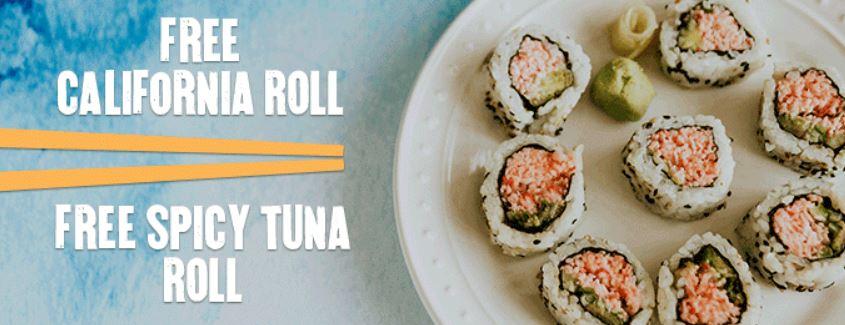 Pf changs free sushi
