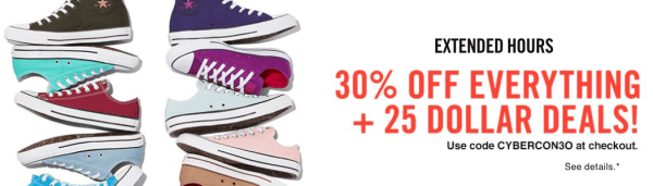 4170ead430c Extra 30% Off Everything + $25 Converse Deals Today Only - My DFW Mommy