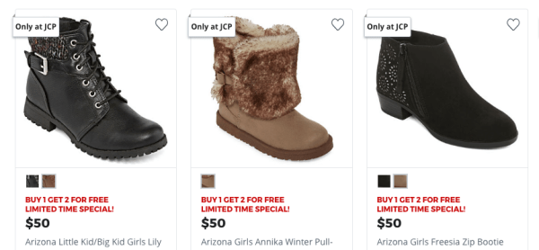31e61d8f56b9 JCPenney~ B1G2 FREE Boots