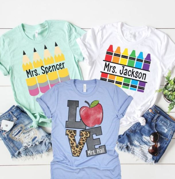 Personalized Teacher Tees 14 99 Retail 30 My Dfw Mommy