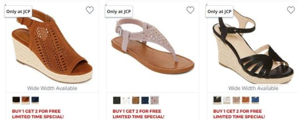 3d4a93036626 JCPenney – Buy 1 Get 2 FREE Women s Sandals or Flip Flops - My DFW Mommy