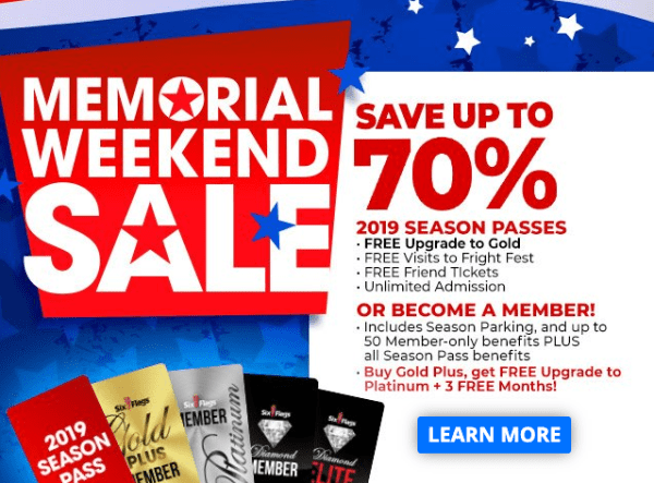 Up to 65% Off Six Flags Season Passes + FREE Parking - My DFW Mommy