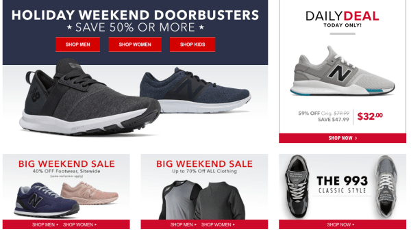 228e7a127a843 Now through May 27th or while supplies last, head over to Joe's New Balance  Outlet and shop the Big Weekend Sale to score 50% or more off of footwear,  ...