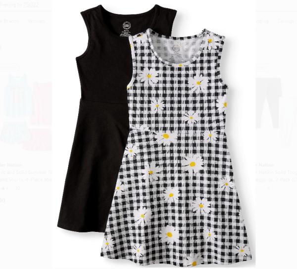 Wonder Nation  Sleeveless Play Dress, 2-Pack