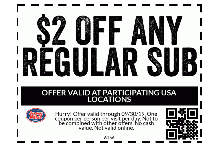 picture about Jersey Mikes Printable Coupons known as $2 Off Any Every month Jersey Mikes Sub - My DFW Mommy