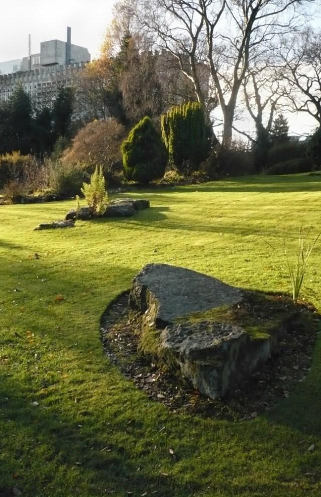 Rock garden designed in 1970s