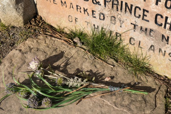 Faded flowers left to commemorate