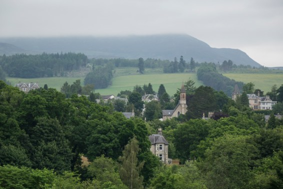 View over Pitlochry