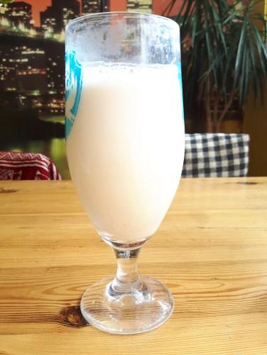 Almond milk using flaked almonds