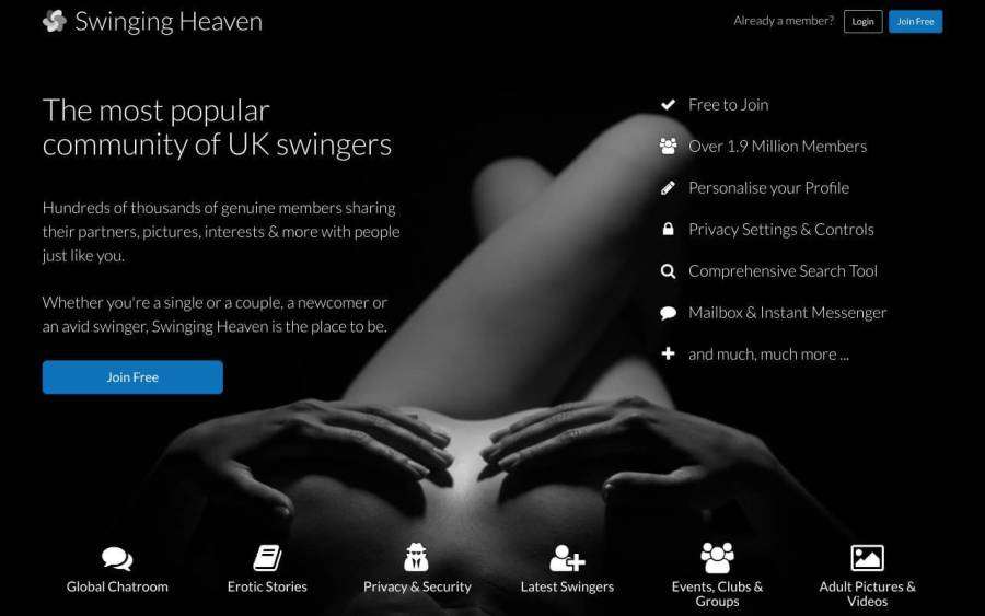 swinging heaven uk swinger's site review