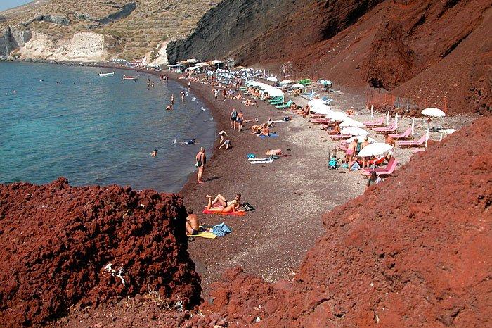 Red Beach, Santorini, Greece, Nude Beach