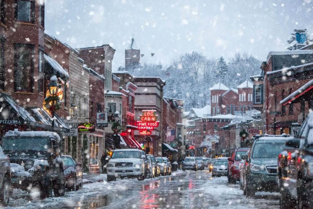 galena illinois christmas snow