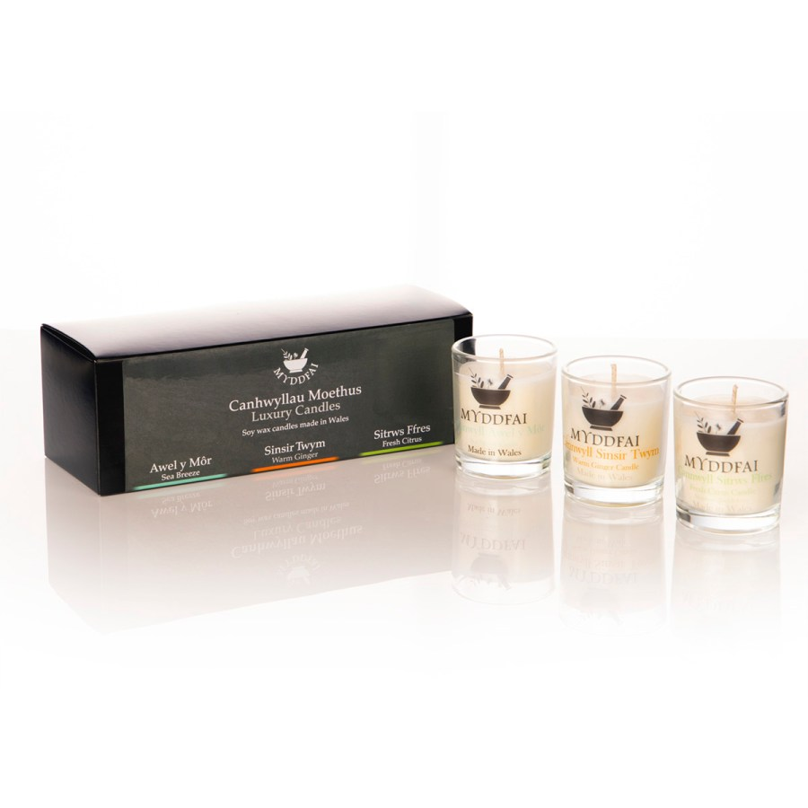 candle set of 3 small square