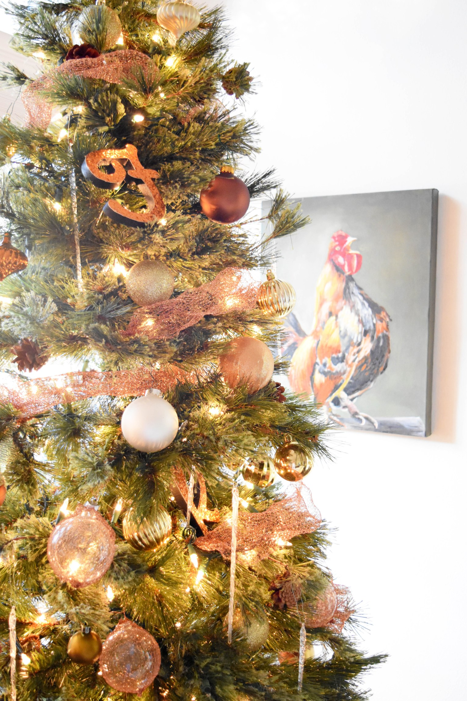 Christmas Tree With Mesh.Diy Copper Mesh Garland For Your Christmas Tree Once