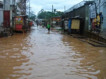 the rain brings in floods