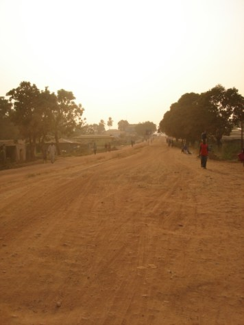 during harmatan the city is covered in red dust and during the dry season its much worst