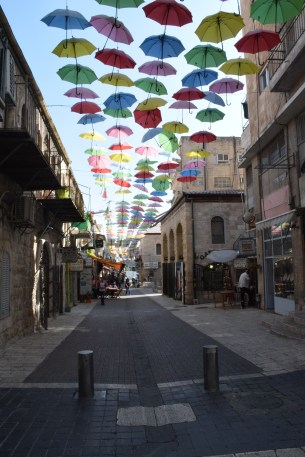 streets decorated along Jaffa road