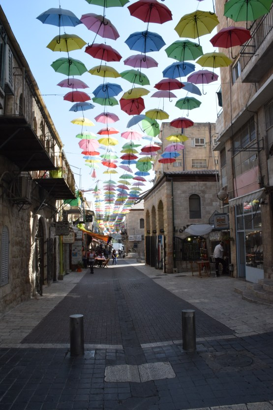 streets decorated along Jaffa road
