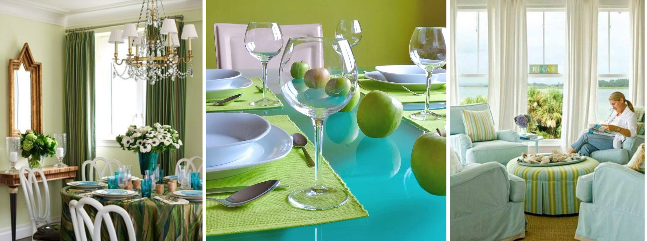 Decorate Home With Blue And Green
