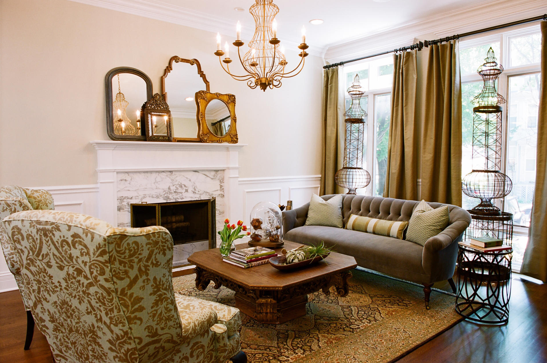 Small French Country Living Rooms