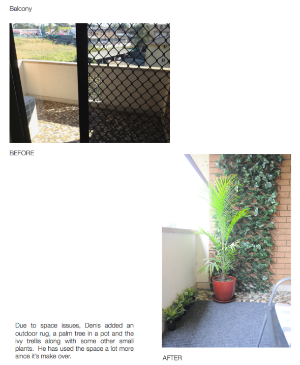 Balcony - Before and Afters