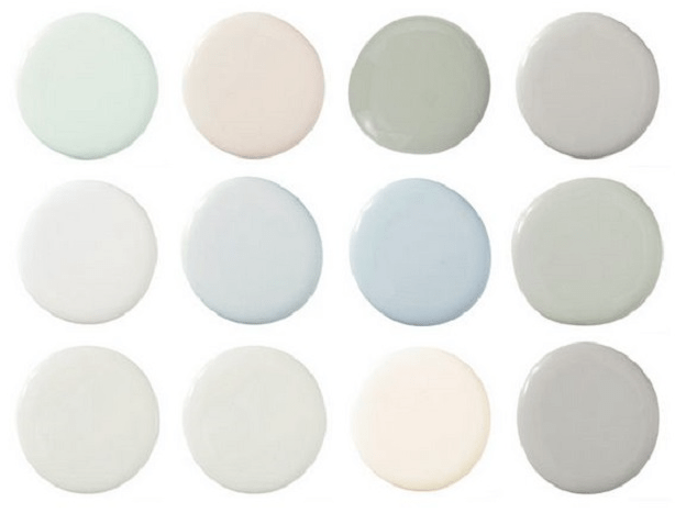 Scandi colour palette of muted pastels
