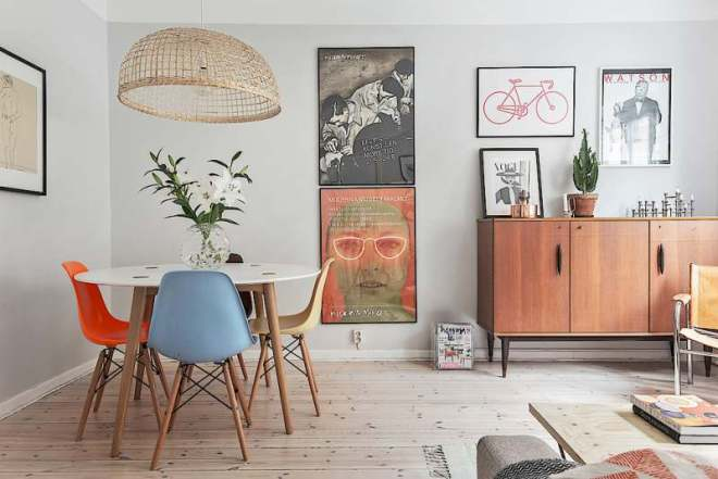Decorates a modern dining room