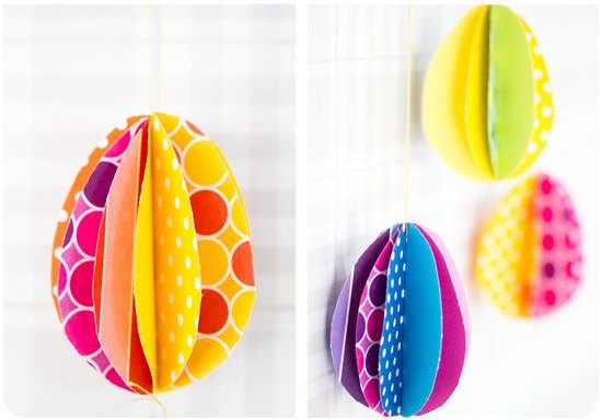 Easter craft: colorful eggs