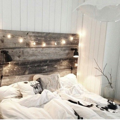 garland lights for a romantic bedroom