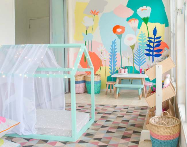 Idea for kids bedroom wall