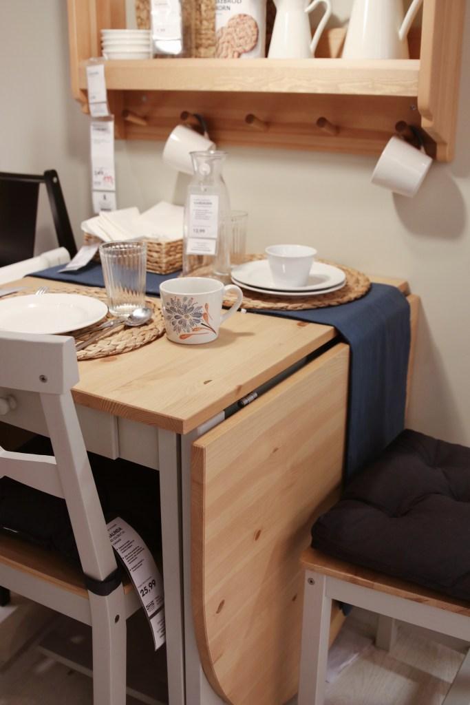 Rozkładany stoł IKEA drewno