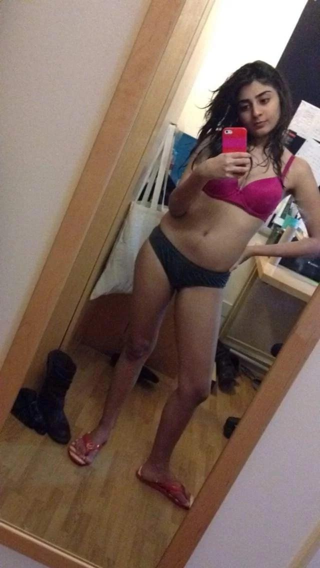 bra panty me selfie