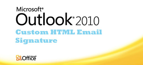 outlook 2010 html email template