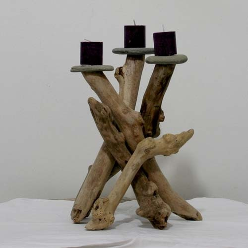 Diy driftwood candles5
