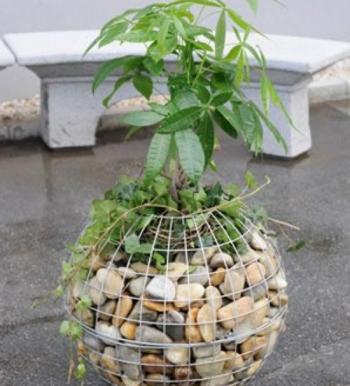 Diy craft ideas using wire mesh and Stones9