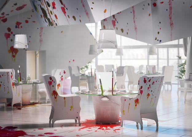 painting inspired interior design decoration2