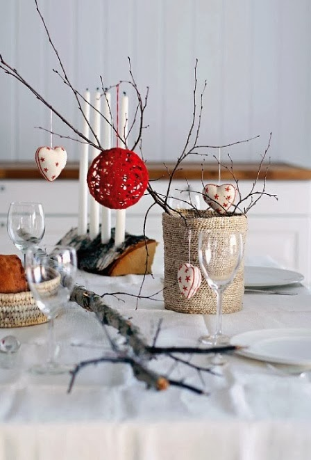 Decorating for Christmas with branches1