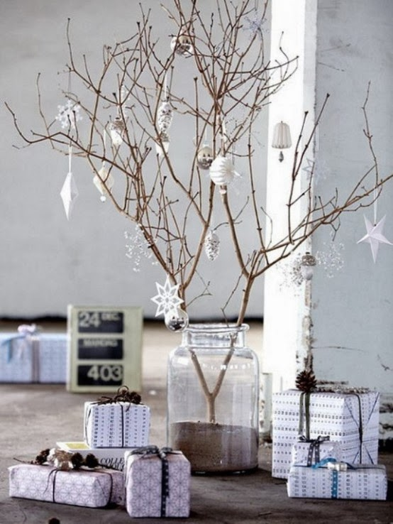 Decorating for Christmas with branches13