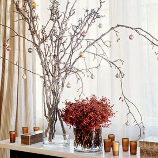 Decorating for Christmas with branches19