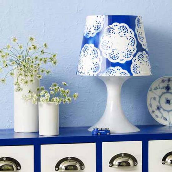 Blau-Wei§: Lampe