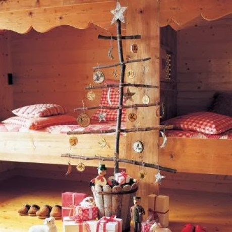 wooden Christmas tree ideas2