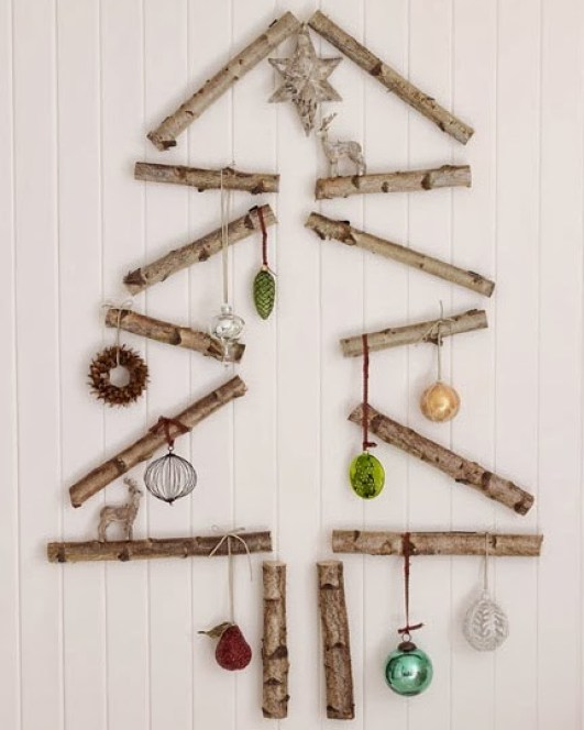 wooden Christmas tree ideas24