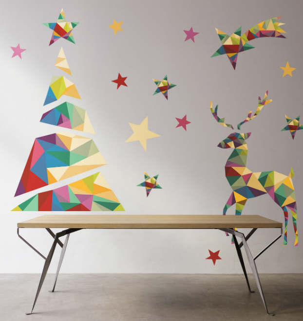 Diy adhesive Christmas Trees by Pixers1